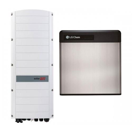 Energilagringspaket  solaredge med 10.0kw  LG batteri